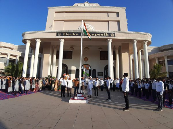 Republic Day celebrations at Devka Vidyapeeth