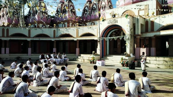 Republic Day celebrations at Sandipani Sanskrit Pathshala, Metoda, Rajkot