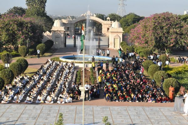26 January 2020 Republic Day celebrations at Shri Hari Mandir, Sandipani Vidyaniketan