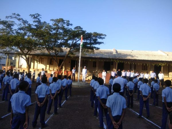 Republic Day celebrations at Sandipani Vidya Sankul, Saputara